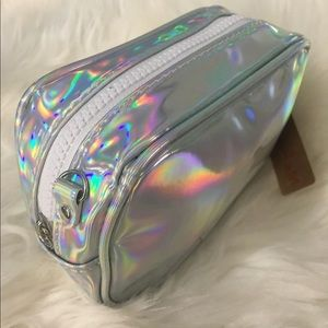 Handbags - Holographic Silver Rainbow Purse Pouch makeup bag